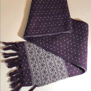 Talbots women's winter scarf purple and gray
